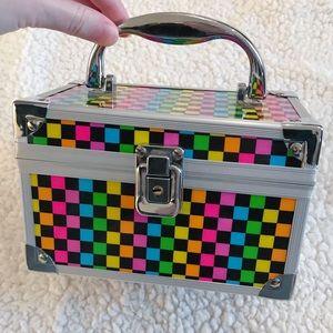 Rainbow Lattice Print Cosmetic Box
